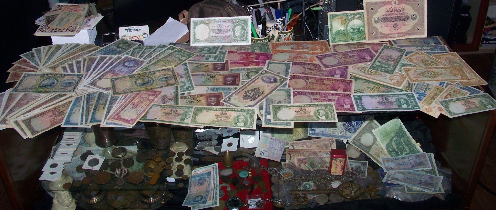 Türk kağıt paraları ve Osmanlı paraları koleksiyon